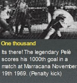 Pele`s 1000th